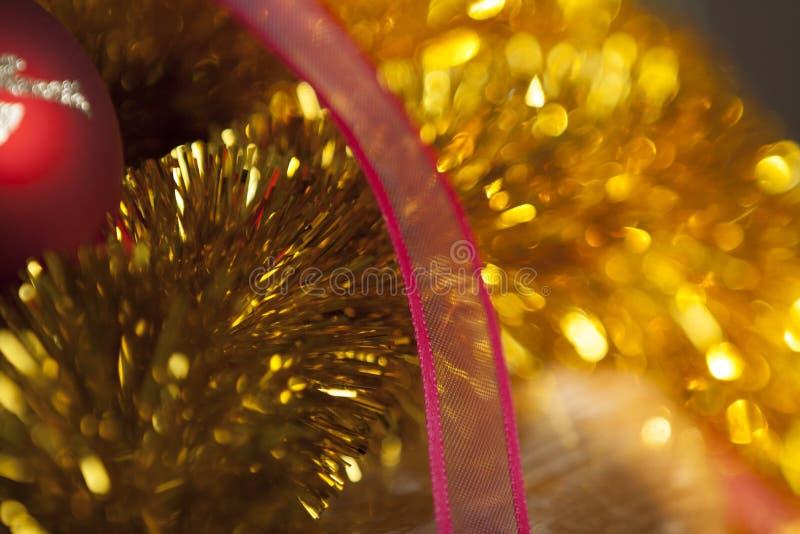 Орнамент рождества золота стоковое фото