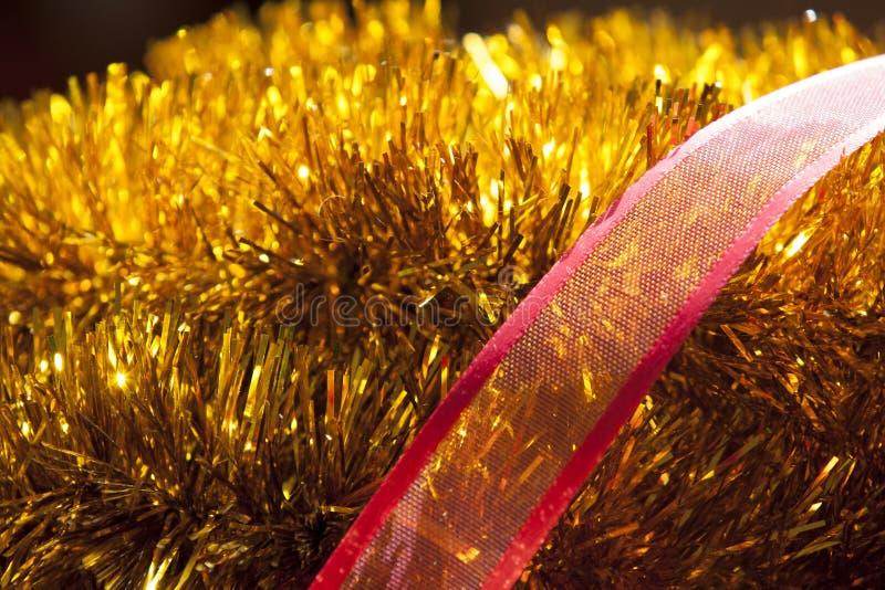 Орнамент рождества золота стоковые фото