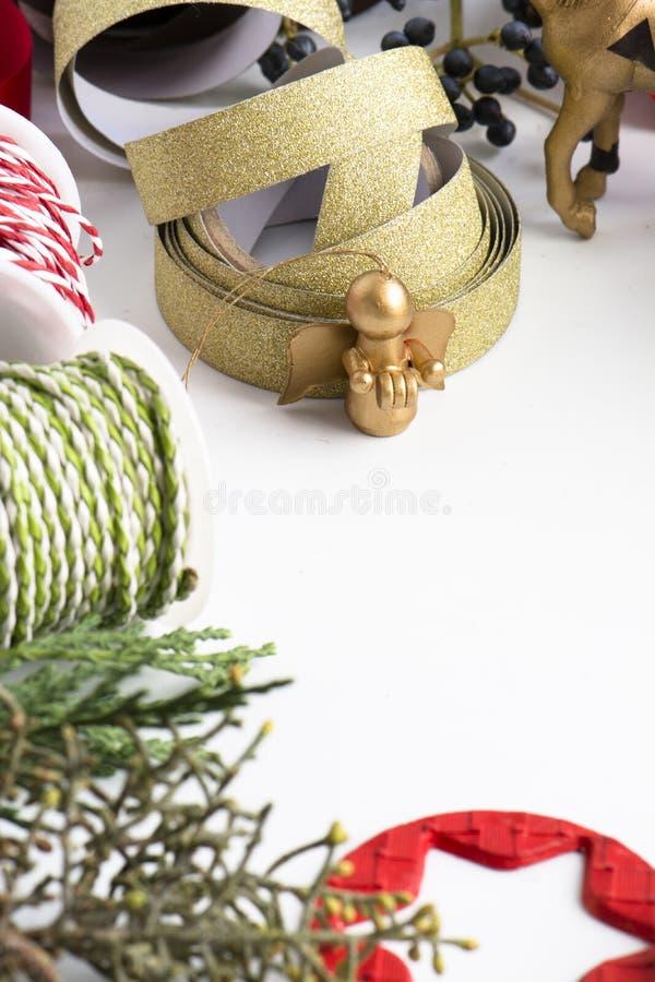 Орнамент рождества рамки стоковое фото