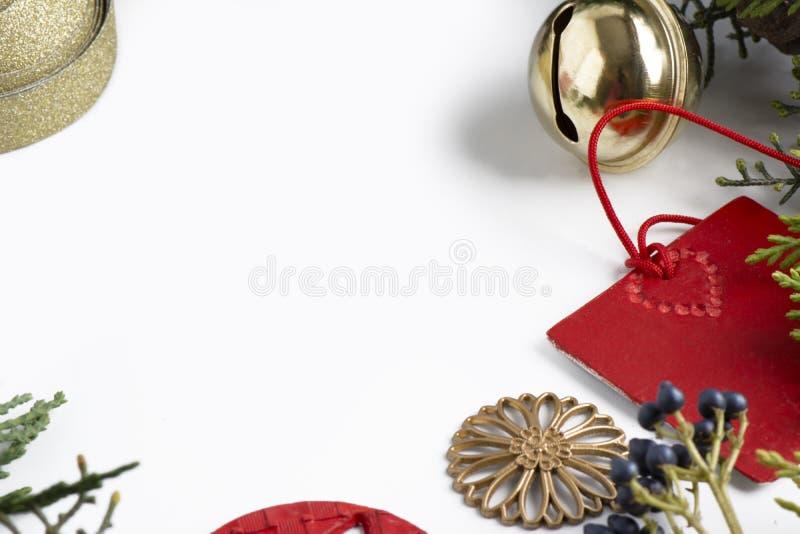 Орнамент рождества рамки стоковое изображение rf
