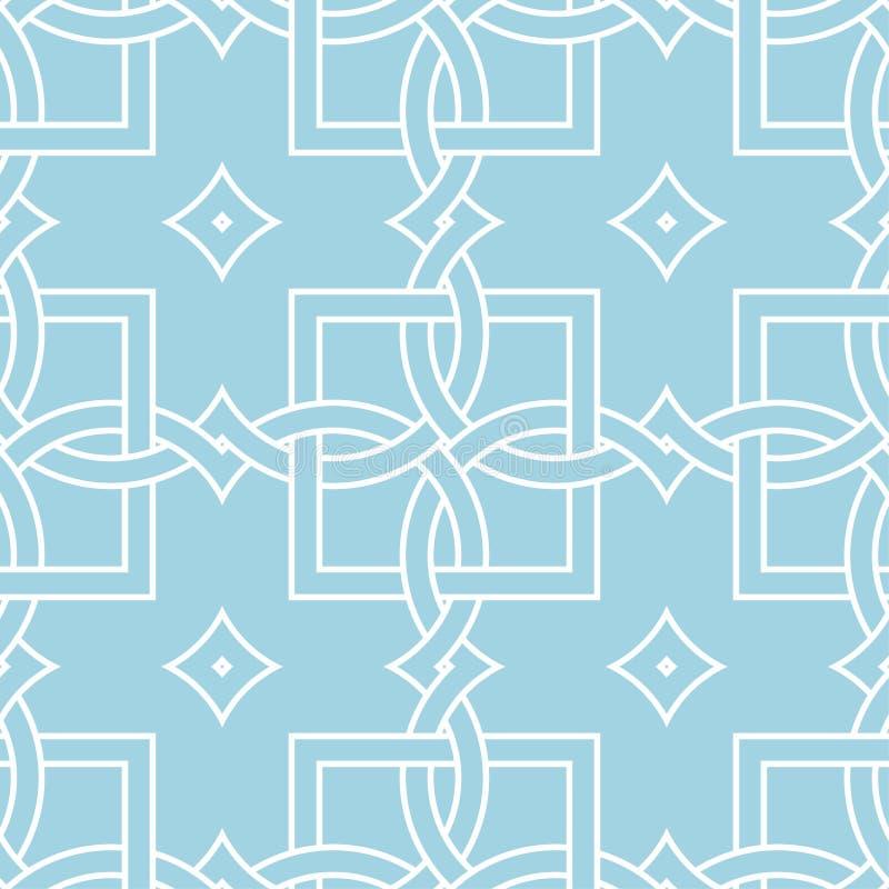 Орнамент сини военно-морского флота и белых геометрический картина безшовная иллюстрация вектора