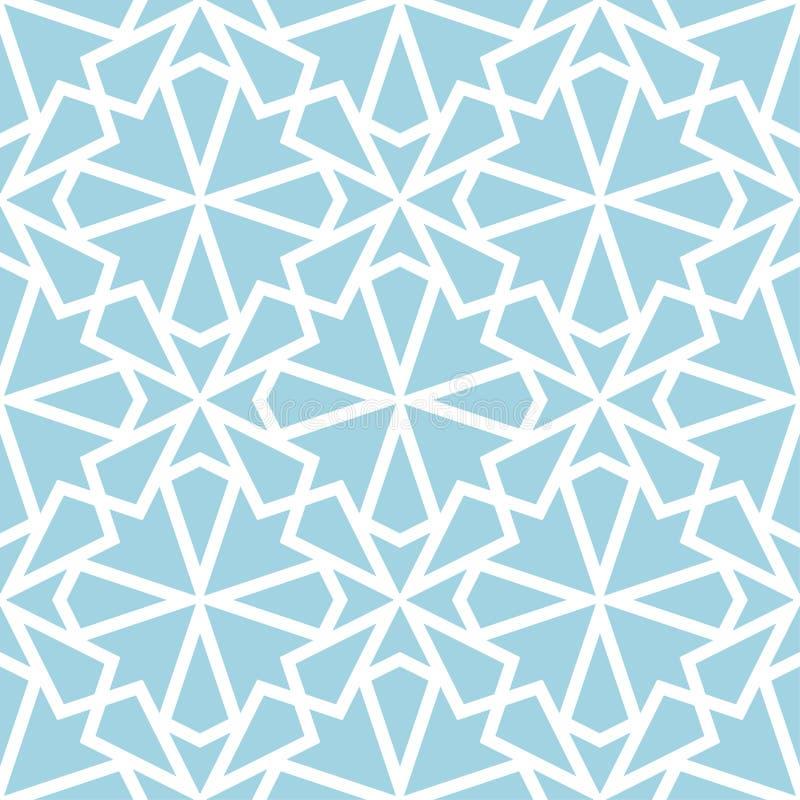 Орнамент сини военно-морского флота и белых геометрический картина безшовная бесплатная иллюстрация