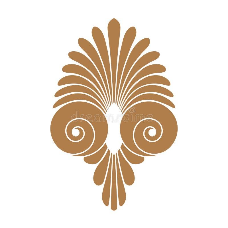 Орнамент старой свирли греческий, вектор и символ иллюстрации бесплатная иллюстрация
