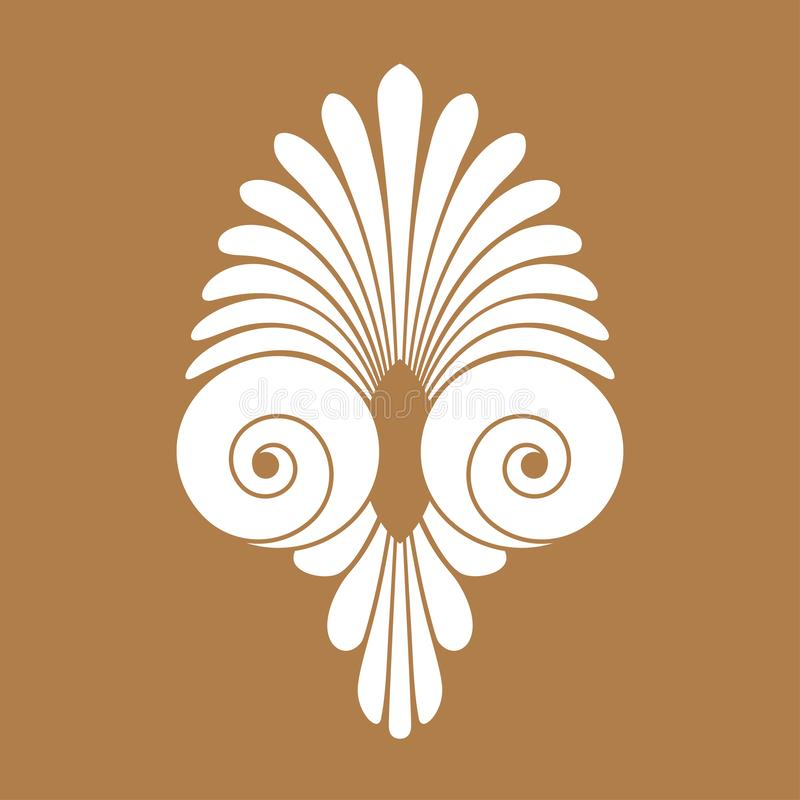 Орнамент старой свирли греческий, вектор и символ иллюстрации иллюстрация штока