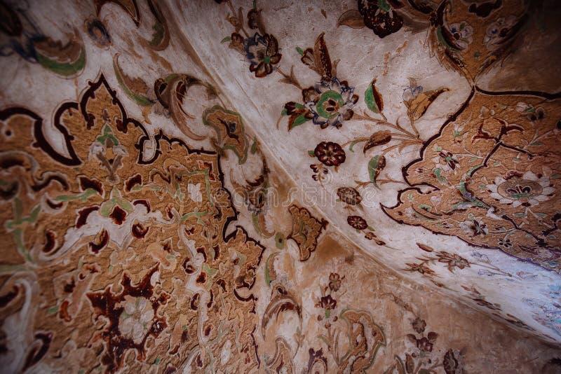 Орнамент стены на дворце Али Qapu, Иране стоковые фото