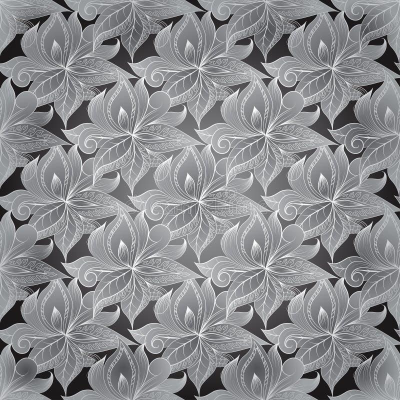 Орнамент схематичных doodles декоративный филигранный иллюстрация вектора