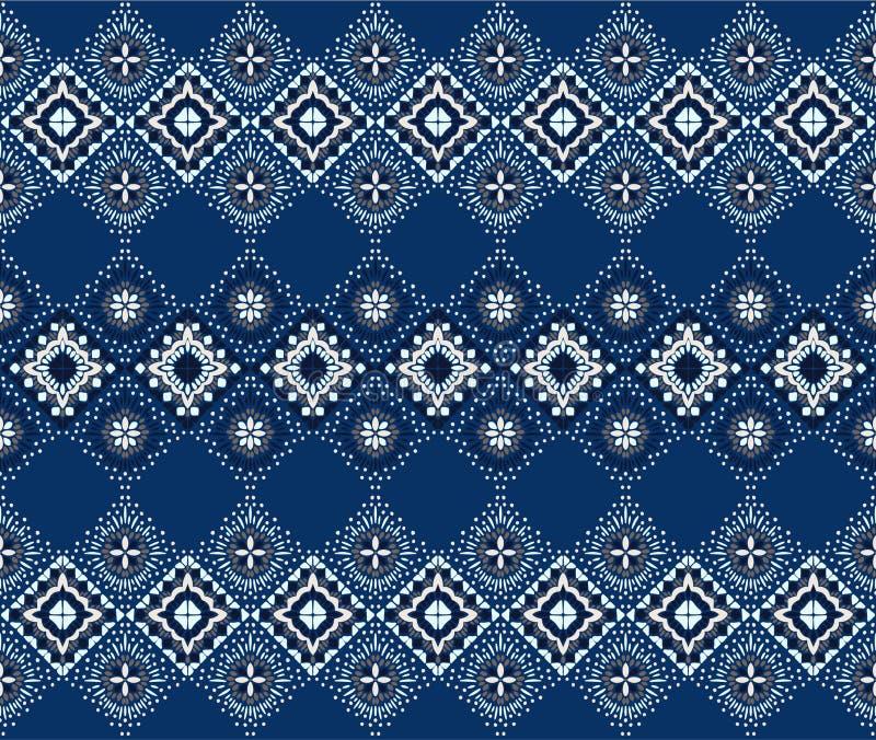 Орнамент фольклора Ikat геометрический Племенная этническая текстура вектора Безшовная striped картина в ацтекском стиле бесплатная иллюстрация