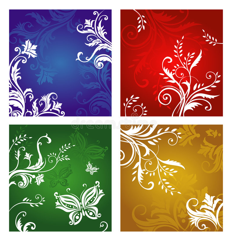 орнамент цветка вегетативный иллюстрация штока