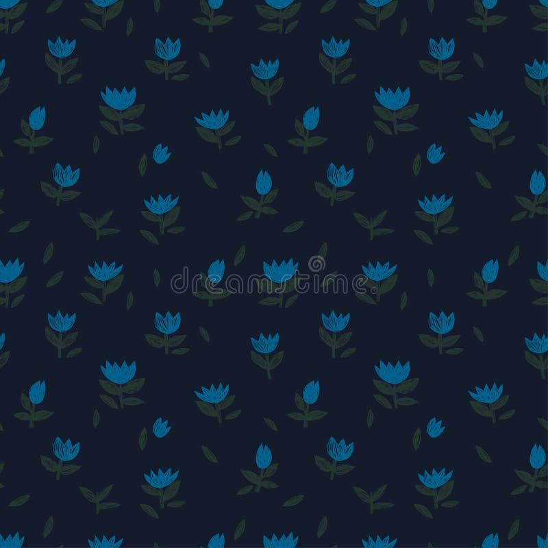 Орнамент ярких голубых cornflowers