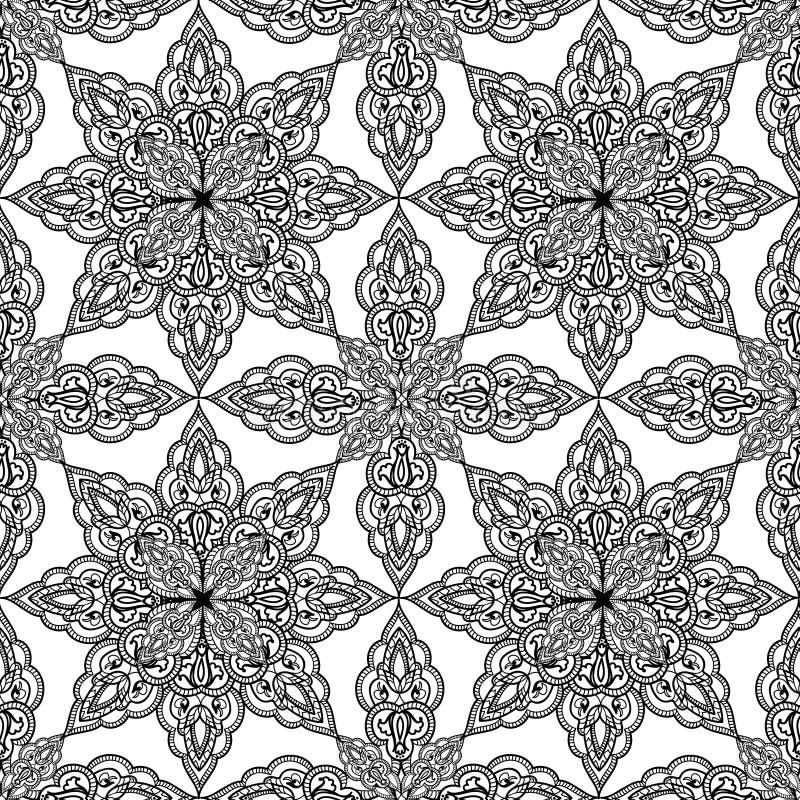 Орнамент Abst мандалы арабской предпосылки орнамента восточный этнический иллюстрация штока