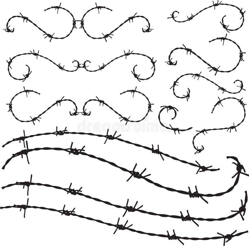 Орнамент Barbwire иллюстрация вектора