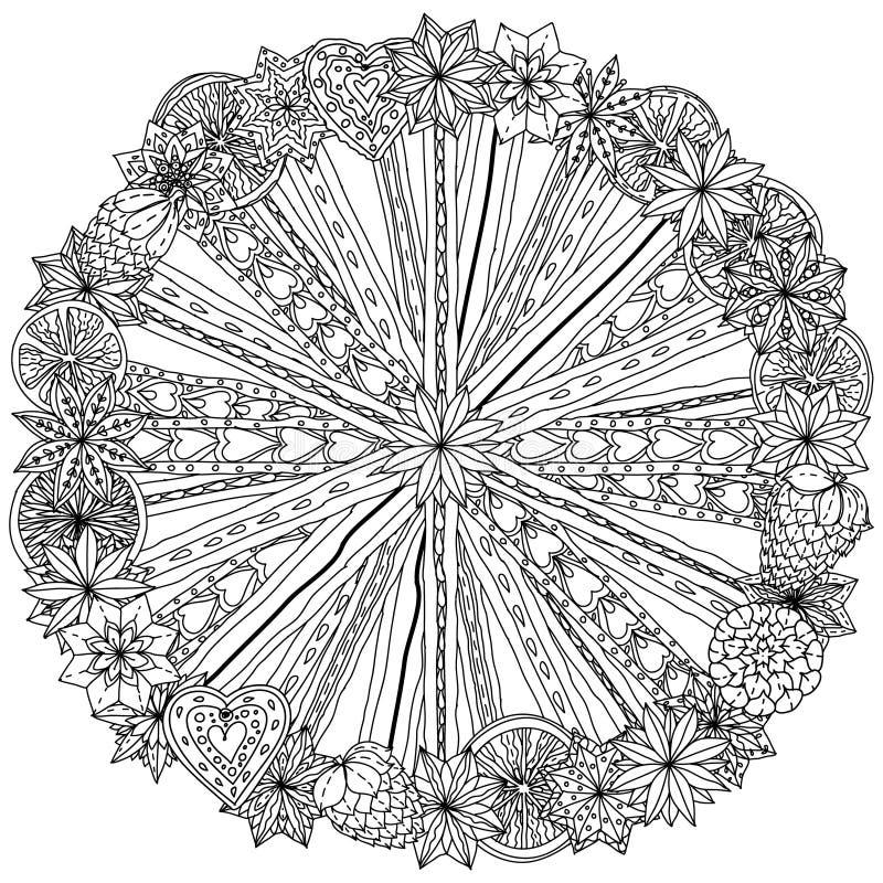 Орнамент Christma круга иллюстрация вектора