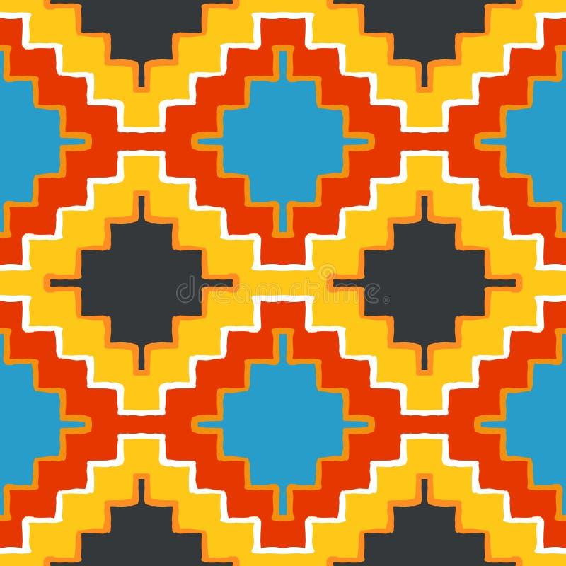 Орнамент navajo вектора племенной иллюстрация вектора