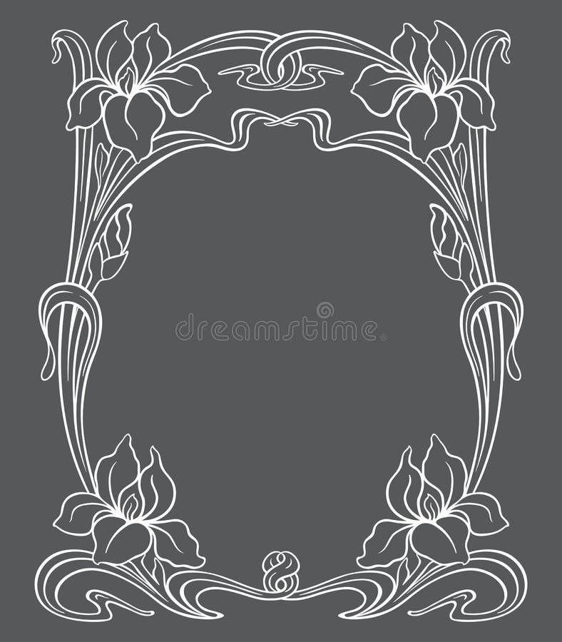 Орнамент nouveau искусства вектора иллюстрация штока