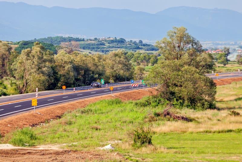 дорога асфальта новая стоковое фото rf