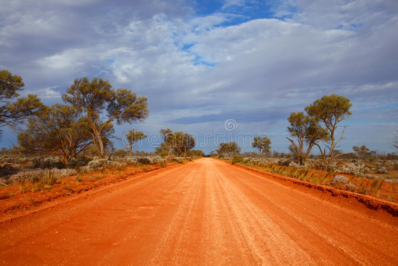 дорога захолустья australites стоковая фотография