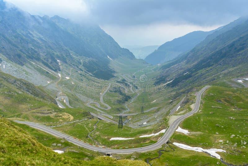дорога transfagarasan стоковое фото rf