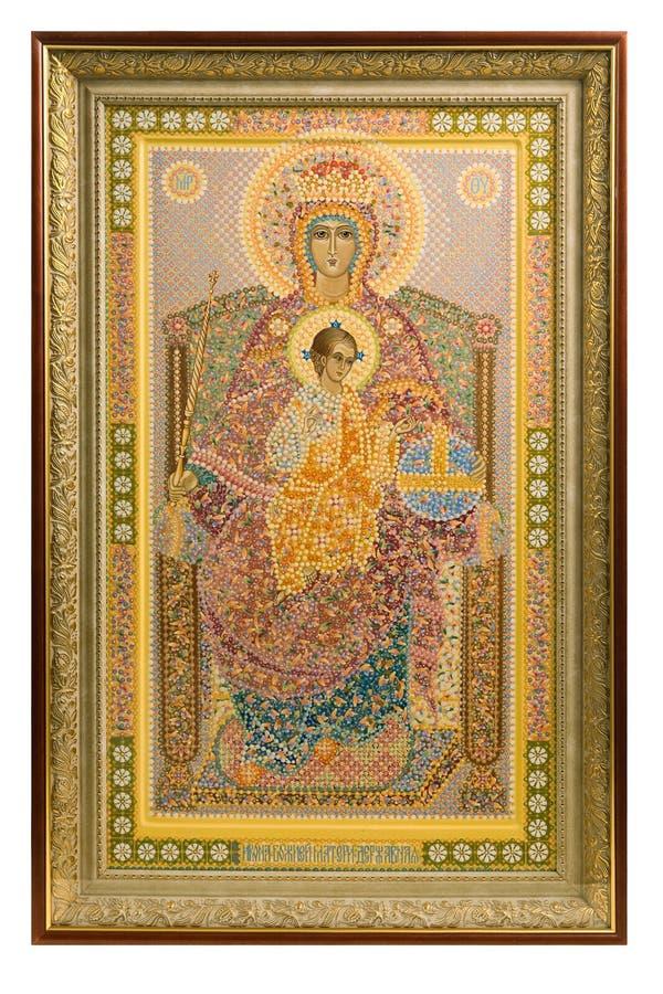 ортодоксальность иконы над русской белизной стоковые фото