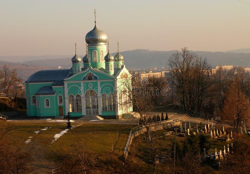 ортодоксальность церковного двора церков стоковые изображения