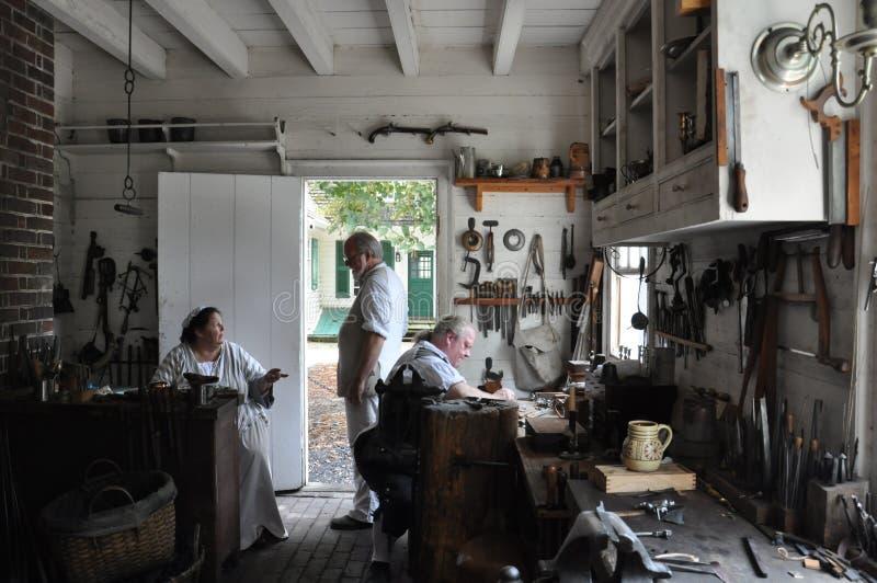 Оружейник и основатель в колониальном Williams, Вирджинии стоковая фотография