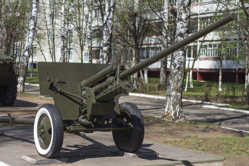 Оружие артиллерии противотанковое Второй Мировой Войны стоковые фото