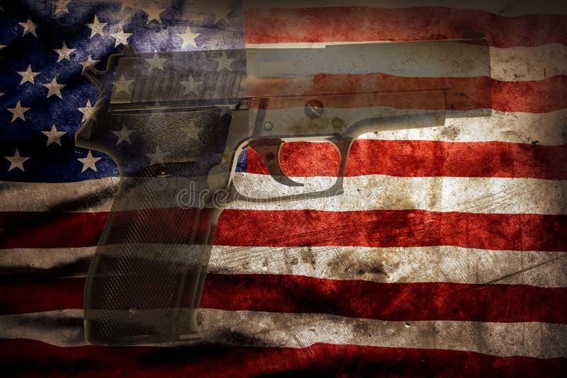Оружие и флаг стоковое изображение