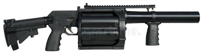 оружие пусковой установки 40mm Multi, большое изолированное оружие стоковое фото rf