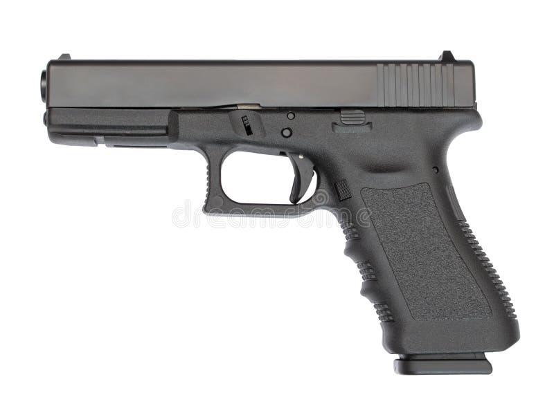оружие руки 9 mm автоматическое стоковое изображение