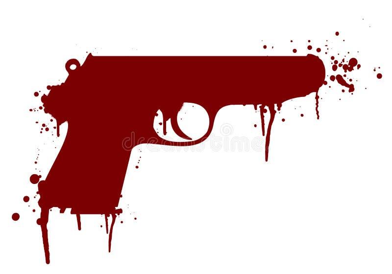 Оружие с кровью иллюстрация вектора