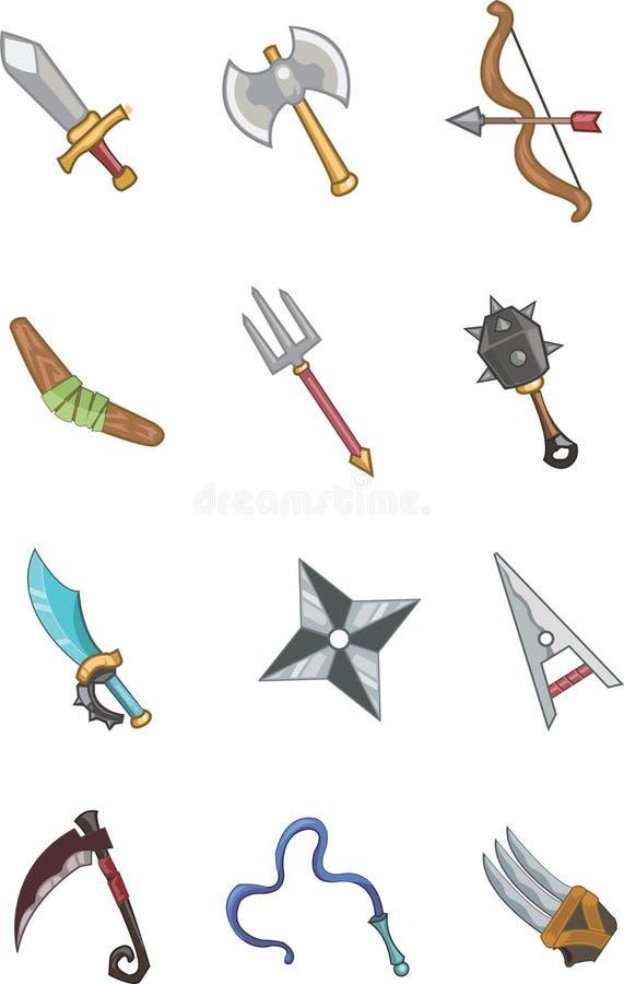оружие doodle иллюстрация вектора