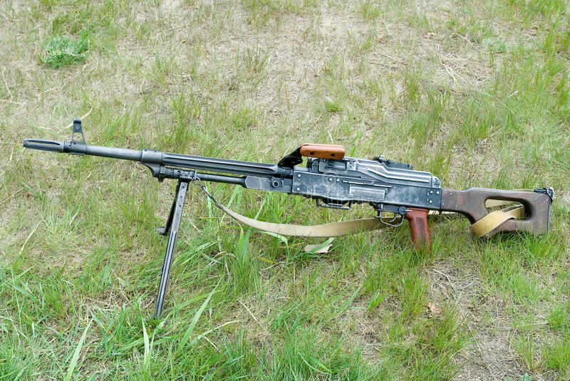 Оружие PK Mashine стоковое изображение