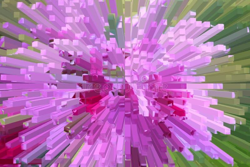 орхидеи пурпуровые нерезкости иллюстрация вектора