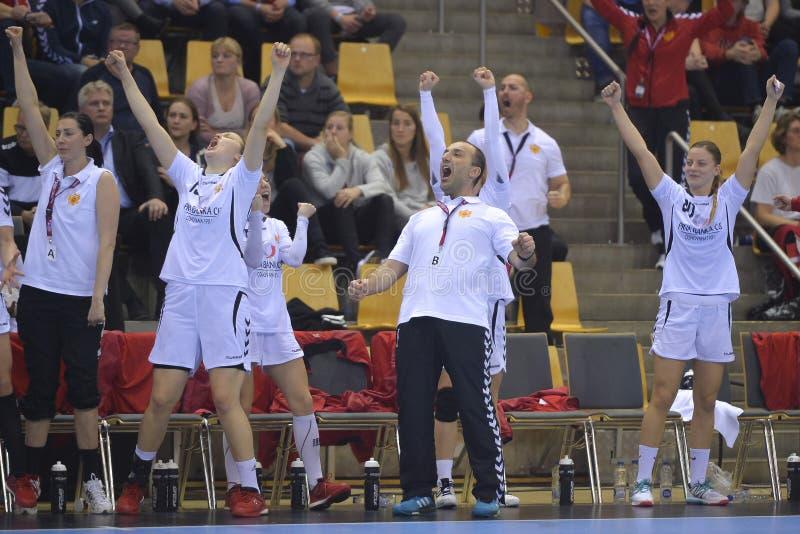 Орхус, турнир квалификации женщин олимпийский стоковое фото rf