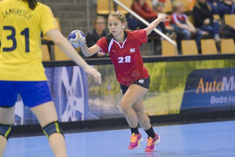 Орхус, турнир квалификации женщин олимпийский стоковые фото