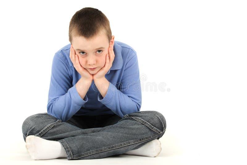 осадка мальчика стоковое изображение rf