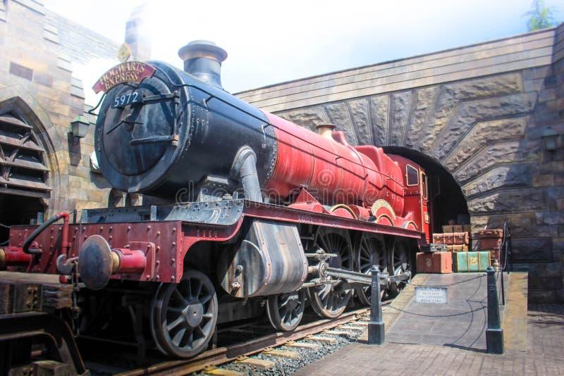 Осака, Япония - Aprill 12, 2016: Мир Wizarding Гарри Поттера в студиях Universal Японии Студии Universal Япония тема стоковое фото