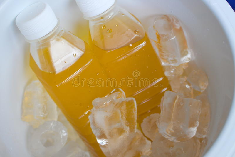 Освежать напитка желтый холодный стоковые изображения