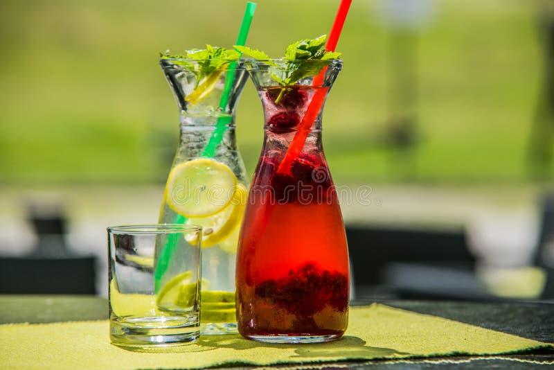 Освежая питье цитруса лета лед-холодное стоковое изображение rf