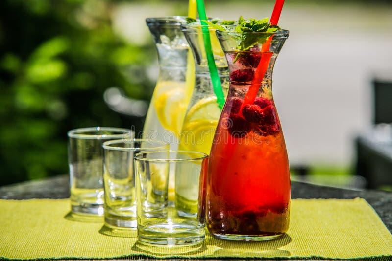 Освежая питье цитруса лета лед-холодное стоковая фотография rf