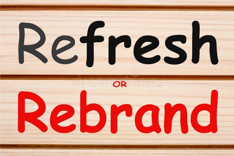 Освежите или концепция Rebrand стоковое изображение rf