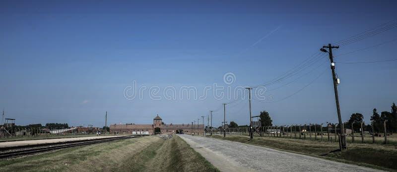 Освенцим-Birkenau, немецкая нацистская концентрация и лагерь смерти в Польше стоковые изображения