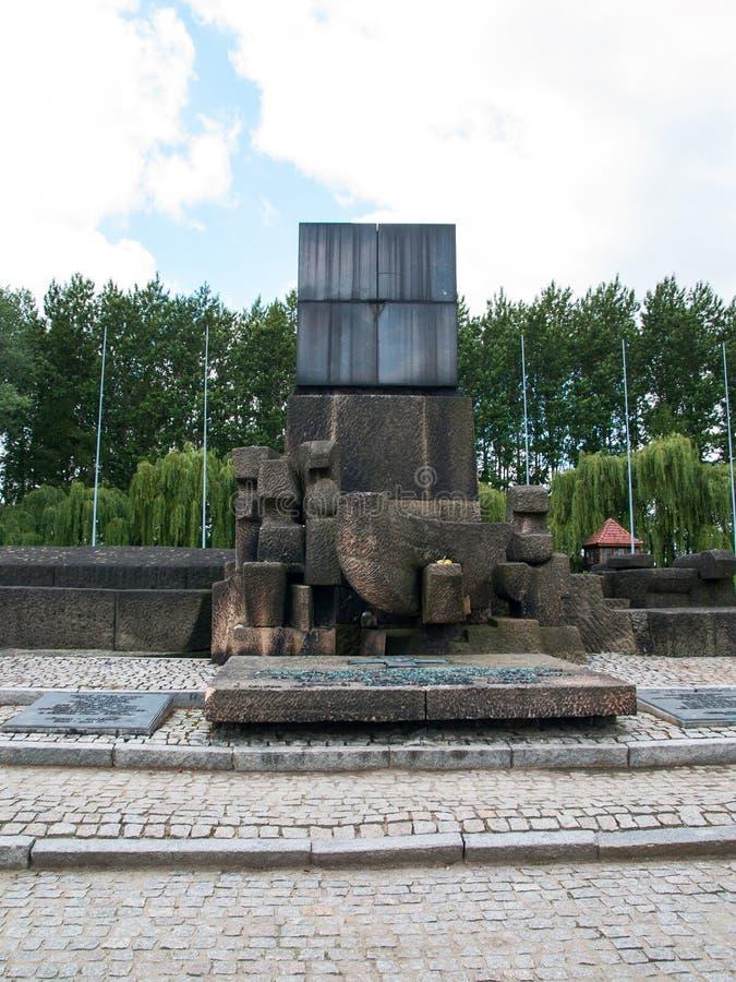 Освенцим II Birkenau, Польша, 4-ое ноября 2014 - международный памятник жертвам лагеря стоковые фотографии rf