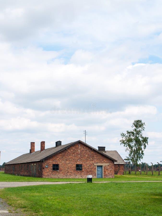 Освенцим II Birkenau, Польша, 4-ое ноября 2014 - немецкие нацистские концентрация и лагерь смерти стоковые фото
