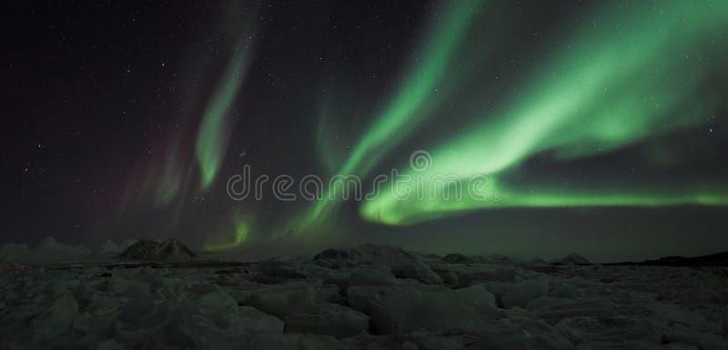 освещает северную панораму стоковая фотография