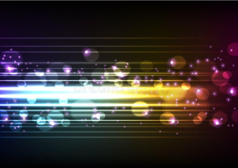 освещает скоростной вектор иллюстрация вектора