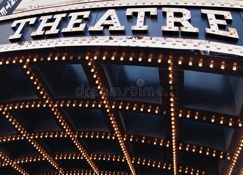 освещает театр стоковые фотографии rf
