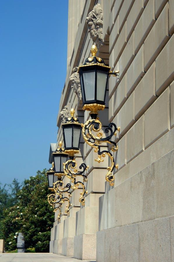освещение здания стоковые фотографии rf