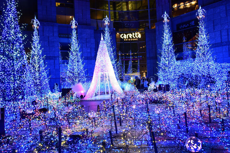 Освещение зимы в Японии стоковые изображения