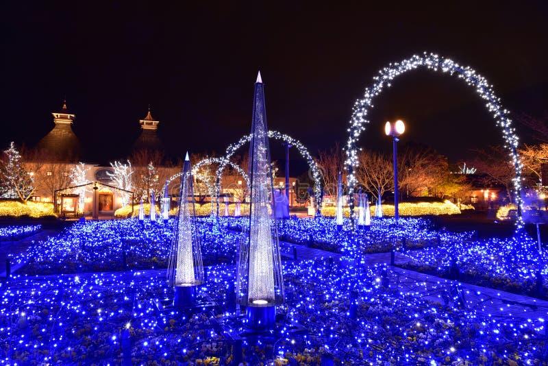 Освещение зимы в Mie, Японии стоковое изображение