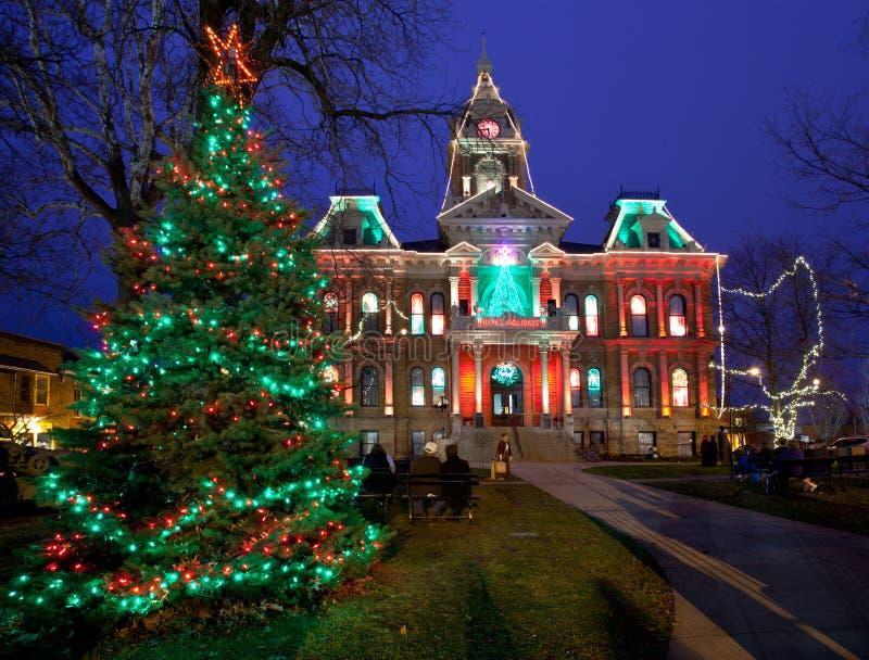Освещение рождества Кембридж Огайо стоковые изображения